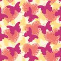 Seamless background, butterflies and hearts Stock Illustration