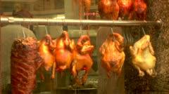 Restaurant window in Chinatown New York City - stock footage