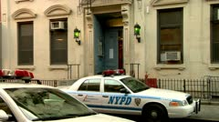 Police Precinct Chinatown New York City Stock Footage