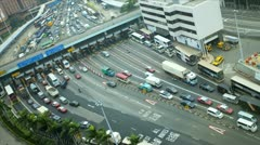 Time lapse Kowloon Toll road Tsim Sha Tsui East, Asia Stock Footage