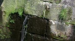 Canal lock sluice channel water leakage - stock footage