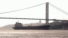 Freighter - stock footage