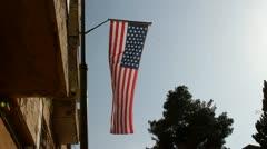 U.S. flag Stock Footage