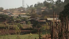 Rural Ethiopia, Western Region, Typical Village, Africa Stock Footage