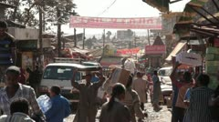Stock Video Footage of Third World Commerce, Ethiopia, Addis Ababa, Open Air Market, Africa
