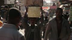 The Mercato, Ethiopia, Addis Ababa, Open Air Market, Africa, Time lapse - stock footage