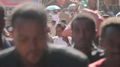 Stock Video Footage of Timelapse, The Mercato, Ethiopia, Addis Ababa, Open Air Market, Africa,