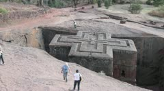 The Church of Saint George Lalibela, Ethiopia, Africa - stock footage