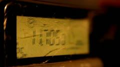 Digital Clock Display Flashing HD Video - stock footage