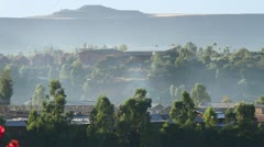 Lalibela Town, against the Mountains, Ethiopia, Rural Village, Africa Stock Footage