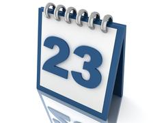 Stock Illustration of Calendar 3d icon render isolated on white