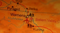 Place Pin in Map, Wamena Pyramid HD Video Stock Footage