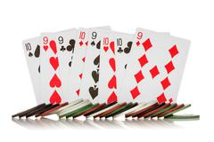 chips and cards - stock photo