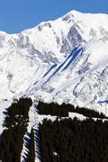 white mountain - stock photo