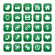 icons for mobile phone - stock illustration