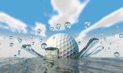 Golfpallon veden loiske Piirros