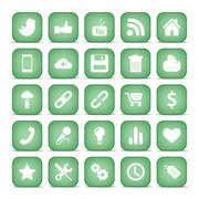 Communication icons. Web set Internet collection. - stock illustration