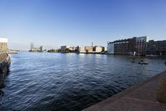 river spree view from oberbaumbr?cke - stock photo