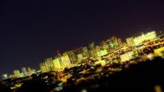 Stars Over Honolulu Nighttime Skyline - Loopable - Time Lapse Hawaii - stock footage