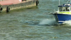 Marine Policing Unit Thames London Stock Footage