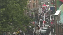Cars and people - Brick Lane, London Stock Footage