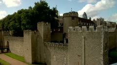 City of London Tower of London North Bank River Thames Stock Footage