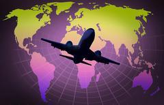 Airliner landing Stock Illustration