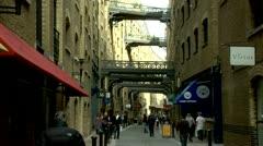 Southwark Borough Pedestrians walking European Street Scene Stock Footage