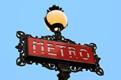 Parisian metro sign Stock Photos