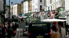 Portobello Road Market, Royal Borough Kensington, Chelsea, City of London -  Stock Footage