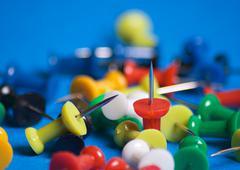 Push pins Stock Photos