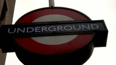 Underground metro Sign City of London  Stock Footage