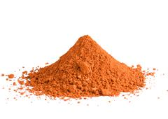 Red ochre pigment pile Stock Photos