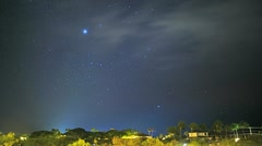 Time lapse view night sky Southern Hemisphere, USA Stock Footage