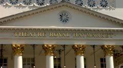 The Haymarket Royal Theater in central London, England Stock Footage