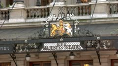 Her Majesty's Theatre, located on Haymarket, City of Westminster Stock Footage
