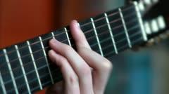 Gitarre spielen Stock Footage