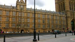Parliament building gothic revival structure government City of London  Stock Footage