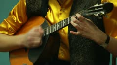 Playing the lute Stock Footage