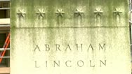 Stock Video Footage of Abraham Lincoln Statue, London