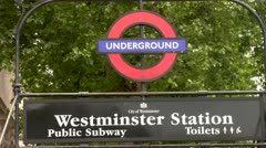 Underground Entrance, City of London Westminster Stock Footage