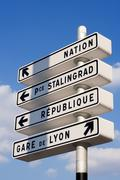 Stock Photo of parisian directions