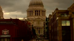 St. Paul's Cathedral, City of London Stock Footage