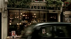 Flower Shop, City of London Westminster St. James Street Stock Footage