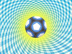Argentina soccer ball background Stock Illustration