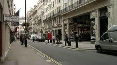 Central London, Gentlemen's Shops City of London Westminster St. James Street - stock footage