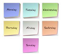 weekdays - stock illustration