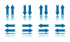 Arrow pairs collection Stock Illustration