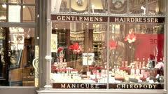 Men's Fashion, Groomingrooming, London St. James Street, Gentlemen's Shop Stock Footage