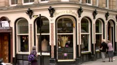 Gentlemen's Shop St. James Street London - stock footage